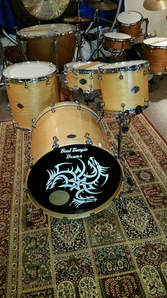 Beat Boogie Drums.22x20 kick, 16x16 floor, 12x10 tom, 14x5.5 snare